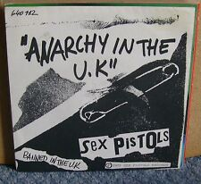 Sex Pistols - Anarchy In The UK - Barclay/ Sex Pistols Records French 7 Inch
