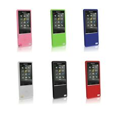 Silicone Skin Case for Sony MP3 Walkman NWZ A15 A17 16G 64G Cover +Screen Pro