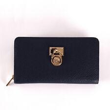 New Michael Kors Hamilton NWT $148 Traveler Large  Zip Around Leather Wallet