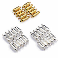 5/10Pcs Jewelry Findings Silver/Gold Plated Magnetic Clasps Hooks Connector 19MM