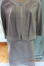REDUCED!!!! PIED A TERRE PERFORATED LEATHER SKIRT AND JACKET SUIT - SIZE 12