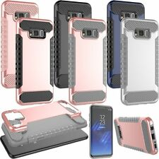Hybrid Shockproof Hard Armor Heavy Duty Cover Case For Samsung Galaxy S8/S8 Plus