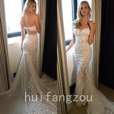 Sweetheart Wedding Dresses Bridal Gowns Mermaid Lace Size 8 10 12 14 16 18 Plus