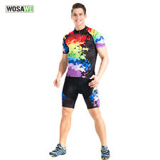 WOSAWE Mens Team Racing Bicycle Cycling Short Sleeve Jersey / bib Shorts Outfits