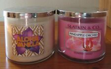 NEW! HTF SLATKIN & CO BATH BODY WORKS SCENTED 3 WICK JAR CANDLE CHOOSE ONE