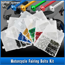 Motorcycle Sportbikes Fairing Bolts Kit Body Fastener Clips Screws Set 6 Colors
