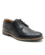 Red Tape Backford Black Leather Mens Brogues Classic Style Formal Shoes Lace Up