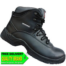 Workforce Airsafe AS-C4 Boots Waterproof Leather Black Safety Work Boots UK