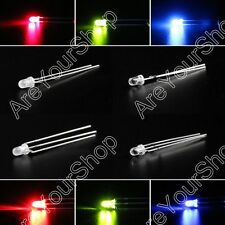 LED 3mm Dual Bi-Color Water Clear Diffused Bright Common Cathode Anode Diode BS2