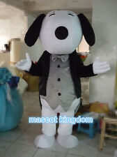 Puppy Dog Cartoon Fancy Dress Adult Size Outfit Gentleman Snoopyy Mascot Costume