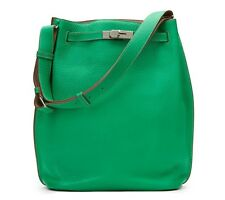 HERMÈS MENTHE CLEMENCE LEATHER SO KELLY 26 - HB920