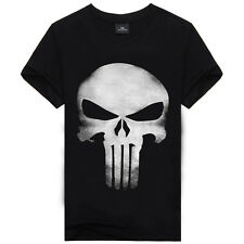 T Shirt Men Mens Tee Skull Top Skeleton Short Sleeve Archaic Black S M L XL New
