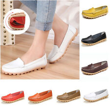 Womens Lady Casual Oxfords Flats Shoes Comfort Leather Ballet Loafers Shoes