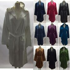 Mens & Womens 100% Cotton Terry Towelling Shawl Collar Bath robe Lot
