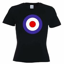 MOD TARGET WOMENS T-SHIRT - Mods The Who Scooter Jam Paul Weller - Sizes S to XL
