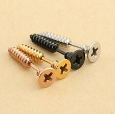 2pcs Screw Stainless Steel Fake Cheater Ear Plugs Gauge Body Jewelry Piercing