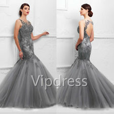 Mermaid Tulle Mother Of The Bride Dresses Bead Applique Formal Evening Prom Gown