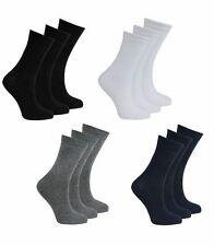 Unisex Childrens Kids Plain Cotton Mix Ankle Socks Back To School boys and girls