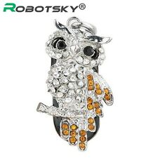 USB Flash Drive Diamond Metal Material Owl Cartoon USB 2.0 Flash Drive U Disk to