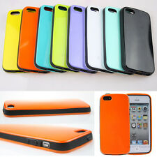 Colorful Back Smooth Skin Cover+TPU Bumper Hard Case Cover For iPhone 4 4S 5 5S