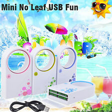 Mini Bladeless Fan Refrigeration No Leaf Air Conditioner USB Safe for Kids