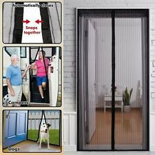 Mesh Door Magic Curtain Magnetic Snap Fly Bug Insect Mosquito Screen Net GuardBK