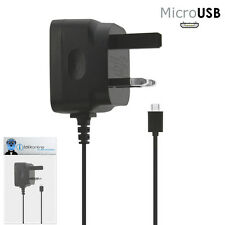 3 Pin 1000 mAh UK MicroUSB Mains Charger for BlackBerry 9105 Pearl 2