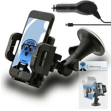 Heavy Duty Rotating Car Holder with Micro USB Charger for Samsung Chat 222