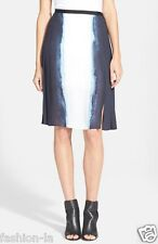 Vertical Dip Dye Pleated Skirt VINCE,  0