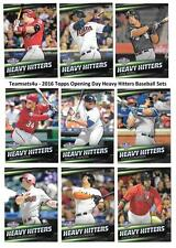 2016 Topps Opening Day Heavy Hitters Baseball Set ** Pick Your Team **
