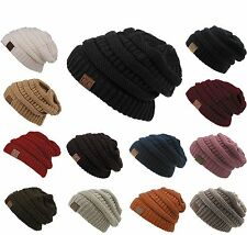 New CC Womens Knit Oversized Slouchy Unisex Beanie Thick Cap Hat Slouch Color 1x