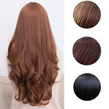 WOMEN LOLITA CURLY WAVY LONG FULL WIG HEAT RESISTANT COSPLAY PARTY HAIR ORNATE