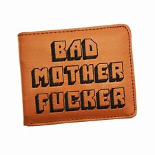 BMF Wallet Embroidery Logo Bad Mother F*cker Purse With Credit Card Holder Mens