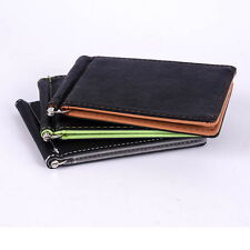 Haimi-hk Mens Card Coin Pockets Bifold Money Clip Leather Holder Wallets Purse