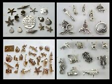 BEACH MERMAID SEA SHELL & CREATURES Charms Lighthouses Shark Chincoteague Pony