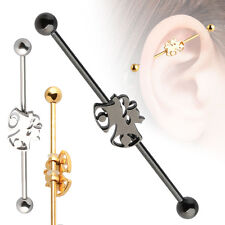 14G Surgical Steel Christmas bell Ear Cartilage Industrial 35mm Scaffold Barbell