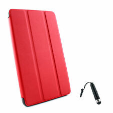 Custer Tri Folding Leather Stand Case FOR 2015 AMAZON KINDLE FIRE HD 7+Stylus BK