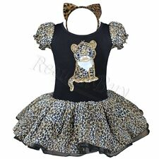 Christmas Fancy Dress Up Girl Leopard Tutu Outfit Cat Costume Ears Cosplay Party