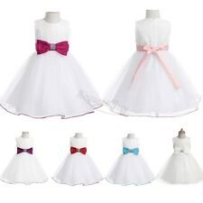 Lace Flower Girl Formal Gown Tutu Dress Pageant Birthday Wedding for Baby Girls