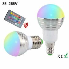 5W 16 Colors Changing E27 E14 Spot Light Lamp RGB LED Bulb IR Remote Control