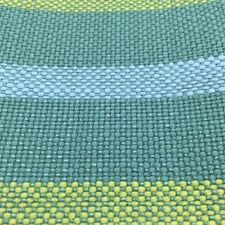"""Teal Blue Green Yellow Striped Upholstery Drapery Fabric By The Yard 54""""W"""