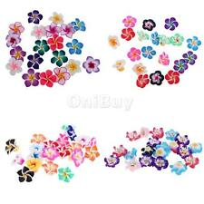 20Pcs/Lot Mixed Flower Polymer Clay Beads Finding Jewelry Making 35/20/15/12mm