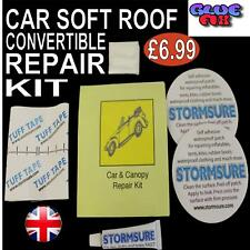 Soft Top Car Roof Convertible Repair Kit Includes Patches & Glue Stormsure UK