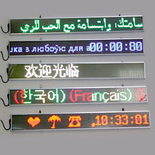 """5 Colors 33""""*3"""" Main Indoor LED Message Sign Scrolling Display Board Slim W78t"""