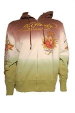 New Ed Hardy by Christian Audigier Multiprint dipdye HOLLYWOOD HOODIE green