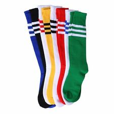 Long Knee High Athletic girls Sport Tube Socks for Soccer Football Baseball