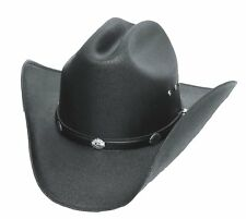 Classic Cattleman Straw Cowboy Hat with Silver Conchos