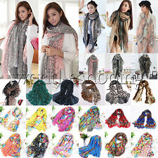Women Ladies Long Soft Chiffon Scarf Wrap Large Silk Winter Shawl Stole Scarve