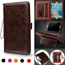 Retro Strap Wallet Slim Leather Smart Sleep/Wake up Card Case Cover for iPad