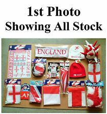 JOB LOT ENGLAND & WALES FOOTBALL / RUGBY SUPPORTERS SCARVES FLAGS BUNTING & MORE